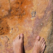 Barefoot on rock — Photo