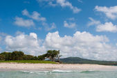 Deserted beach at Vieux Fort — Stock Photo
