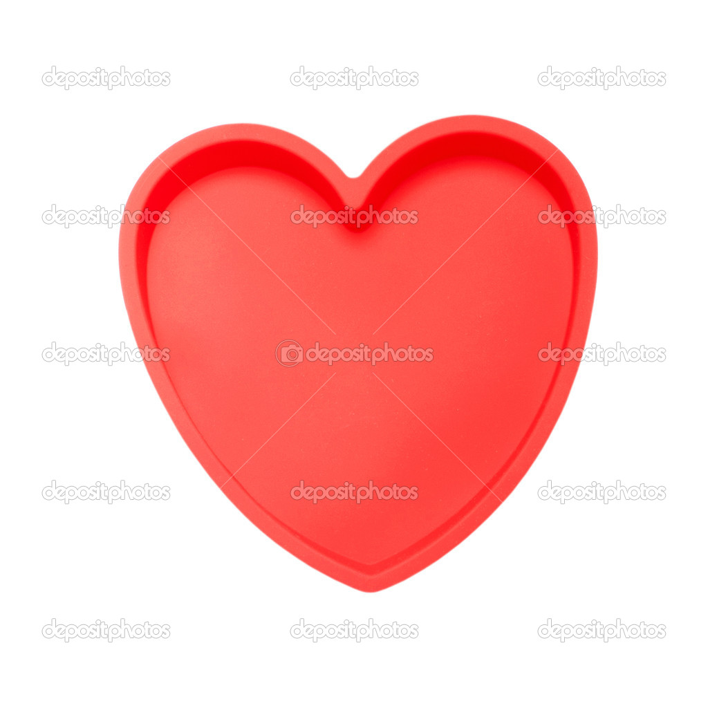 Gorgeous red silicon heart isolated on white background — Stock Photo #18823897