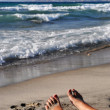 Relaxing feet — Stock Photo