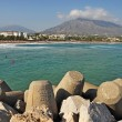 Puerto Banus beach - Stock Photo