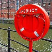 Buoy foam lifesaving ring — Stock Photo