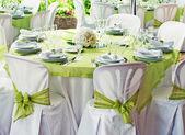 Bruiloft tabel — Stockfoto