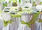 Wedding table — Stock Photo