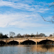 Foto Stock: Serpentine Bridge and Lake