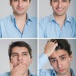 Foto Stock: Businessman expressions