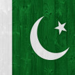 pakistan flag — Stock Photo