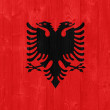 Stock Photo: Albania flag