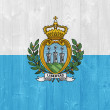 San Marino flag — Stock Photo