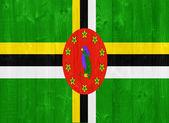 Dominica flag — Stock Photo