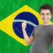 Brazilian Sports Fan — Stock Photo