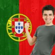 Portuguese Sports Fan — Stock Photo