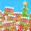 Pack of gingerbread men - Stock Photo