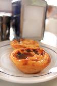Portuguese custard pastry delicasy — Stock Photo