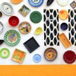 Artisan's wall of handpainted plates — Stock Photo #24126795