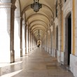 Arches in Praca do Comercio — Stock Photo