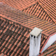 Stock Photo: Red clay tubular tiled rooftops