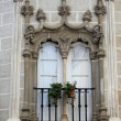 Decorative window in Evora, Portugal - Stok fotoraf