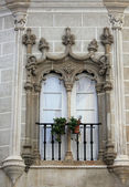 Decorative window in Evora, Portugal — Stock Photo