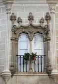 Decorative window in Evora, Portugal — Stock Photo
