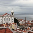 Cityscape of Alfama Lisbon, Portugal buildings — Stock Photo