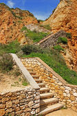 Steep cliff staircase — Stock Photo