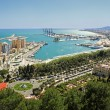View of Malaga's port — Stock Photo