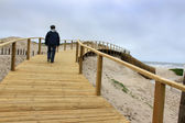 Boardwalk in Praia Barra — Stock Photo