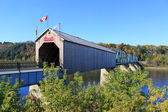 Covered Wooden Bridge in Florenceville, New Brunswick — Stock Photo