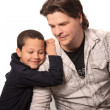 Foto Stock: Father and young son