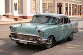 Auto d'epoca in cienfuegos, cuba — Foto Stock
