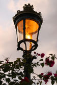 Old fashioned street lamp in evening — Zdjęcie stockowe