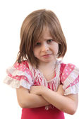 Upset little girl — Stock Photo