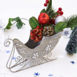 Christmas decoration in sledge — Stock Photo #1277960