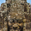 Faces of Bayon tample. Ankor wat. Cambodia. — Stock Photo