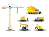 Construction vehicles set — Stock Vector