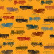 Old cars pattern seamless - Stok Vektr
