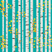 Birch forest pattern — Stock Vector