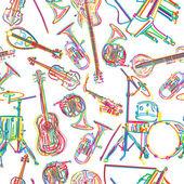 Dibujo de instrumentos musicales — Vector de stock