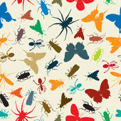 Insects pattern — Stock Vector