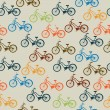 Retro bicycle pattern - Stock Vector