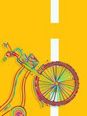Bisiklet kartı — Stok Vektör