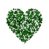 Clover heart — Stockvector