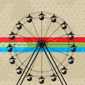 The fun wheel — Stock Vector