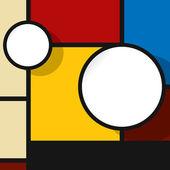 Burbuja de diseño web en colores — Vector de stock