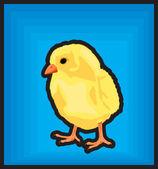 Clip art new born chiken — Stock Vector