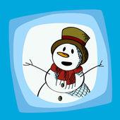 Snowman clip art — Stock Vector