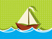 Sailing ship graphic — Stock Vector