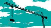 Tower crane sketch — Stock Vector