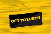 Out to lunch message — Stock Vector